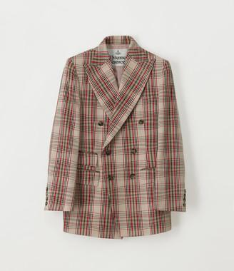 Vivienne Westwood Double Breasted Jacket Beige Tartan