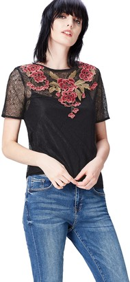 Find. Amazon Brand Women's Floral Embroidered Lace Blouse