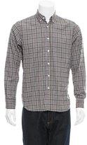MAISON KITSUNÉ Button-Down Flannel Shirt
