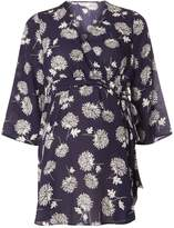 Dorothy Perkins **Maternity Navy Floral Belted Wrap Top