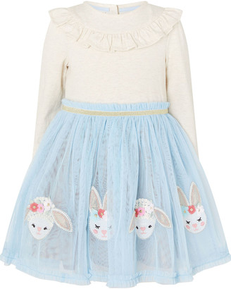 Monsoon Baby Bunny Disco Dress Blue