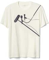 Gap Multi-microphone graphic crewneck tee