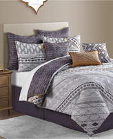 Sunham Rhodes Reversible 10-Pc. Geo-Print Full Comforter Set Bedding