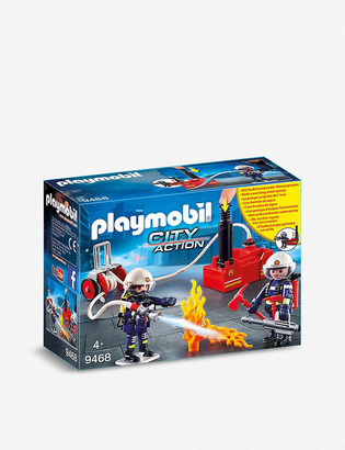 Playmobil City Action firefighters and pump playset