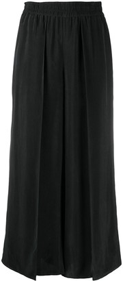 Alice + Olivia Layered Wide-Leg Cropped Trousers