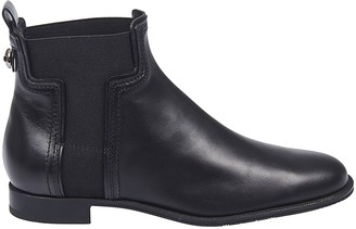 Tod's Tods Branded Metal Ankle Boots