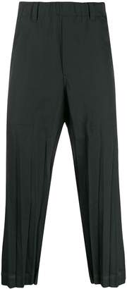 Issey Miyake pleated detail trousers