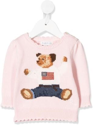 Ralph Lauren Kids Bear Knit Jumper