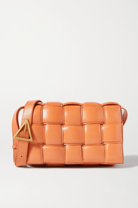 Bottega Veneta Cassette Padded Intrecciato Leather Shoulder Bag - Light brown