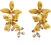 Jennifer Behr Layla Gold-Plated Brass Swarovski Crystal Earrings