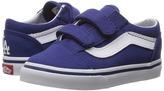 Vans Kids Old Skool V x MLB Los Angeles/Dodgers/Blue) Kid's Shoes