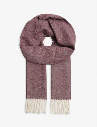 Eton Herringbone wool scarf