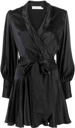 Zimmermann Silk Wrap Mini dress
