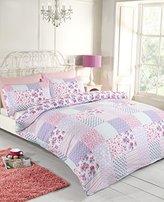 Rapport Elsa Duvet Set, Polyester-Cotton, Pink, Double