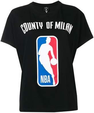 Marcelo Burlon County of Milan logo NBA T-shirt