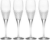 Mikasa Diamond Sky Set of 4 Crystal Flute Glasses