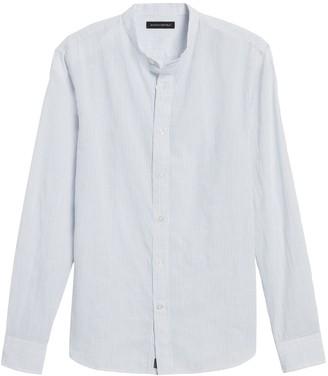 Banana Republic Untucked Slim-Fit Crinkle Cotton Shirt
