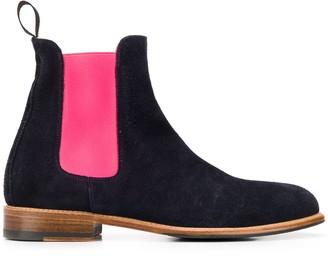 Scarosso Chelsea colour-block boots