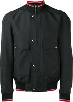 Christian Dior four pocket bomber jacket with ribbed collar - men - Polyester/Cupro - 50