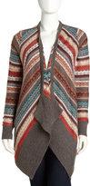 Design History Cascading Jacquard Sweater, Chrome
