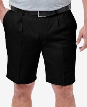 "Haggar Men's Big & Tall Cool 18 Pro Classic-Fit Stretch Pleated 9.5"" Shorts"