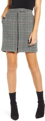 Vero Moda Rebeljana Plaid Exposed Zip Miniskirt