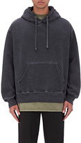 Yeezy Men's French Terry Oversized Hoodie-BLACK