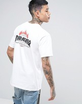 Huf X Thrasher Logo T-shirt With Back Print