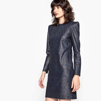 La Redoute Collections Shimmer Dress with Padded Shoulders
