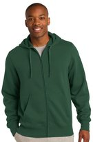 SportTek Sport-Tek Men's Big And Tall Durable Full-Zip Hooded Sweatshirt - TST258 LT