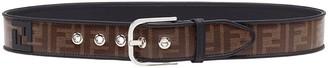 Fendi FF monogram fabric belt