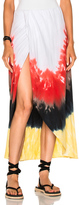 Baja East Tie Dye Cotton Skirt in Green,Ombre & Tie Dye,Red,Yellow.