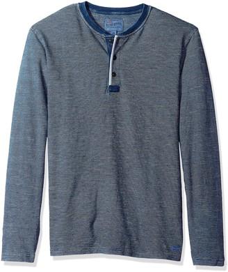 Lucky Brand Men's Casual Long Sleeve 3 Button Henley T-Shirt
