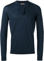 Nuur round split neck sweater - men - Merino - 52