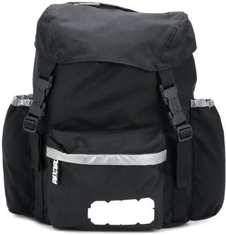 GCDS Logo Print Metallic Detail Backpack