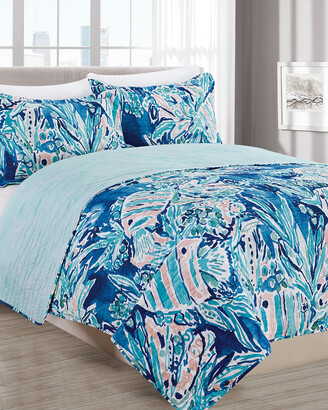 Melange Home Barbarian Here Fishie Quilt Set