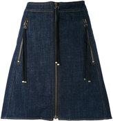 Kenzo zip A-line skirt - women - Cotton/Polyester - 36
