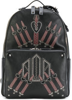 Valentino embroidered backpack - men - Calf Leather/metal - One Size