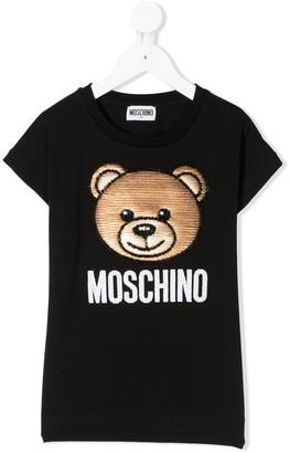 MOSCHINO BAMBINO embellished teddybear T-shirt