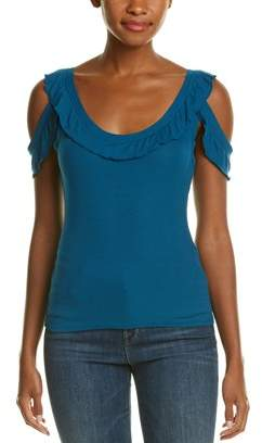 BCBGMAXAZRIA Cold Shoulder Tank Top.