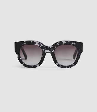 Reiss Cleo - Monokel Eyewear Acetate Sunglasses in Grey