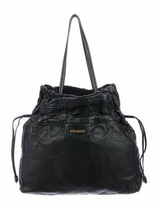 Prada Nappa Antik Shopper Tote Black