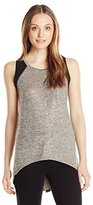Calvin Klein Jeans Women's Mixed Media Halter Tunic
