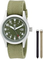 Smith & Wesson Men's SWW-1464-OD Military Multi Canvas Straps Watch