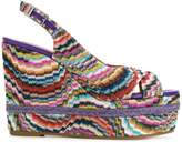 Missoni wedged striped sandals