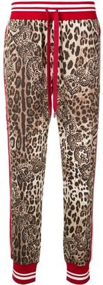 Dolce & Gabbana Leopard-Print Track Pants