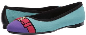 Salvatore Ferragamo Varina Knit (Tom.Tyrone/Punt.Ameth/F.Lipstick) Women's Shoes