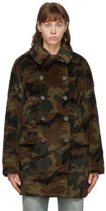 R 13 Green Camo Hunting Coat