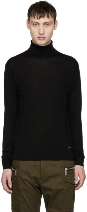 DSQUARED2 Black Wool Turtleneck