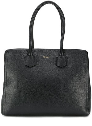 Furla pebbled effect tote